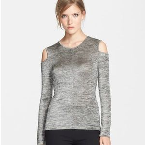 rag & bone Tops - Rag and bone silver Michelle cold shoulder S